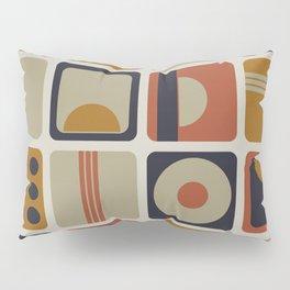 Retro Geometrical Minimalist Squares Pillow Sham