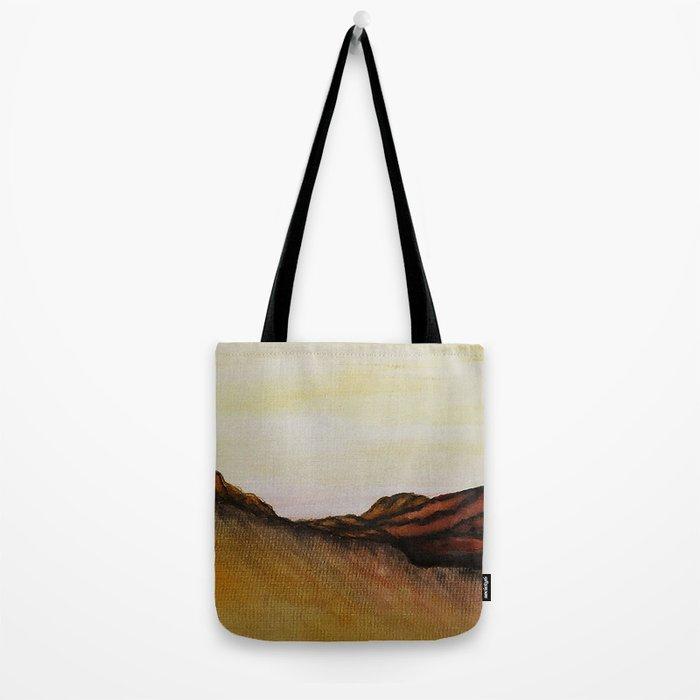 Mountain & Desert / Watercolor Painting Tote Bag