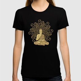 Mandala Golden Buddha T-shirt