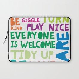 Playroom Rules Colourful Art Laptop Sleeve