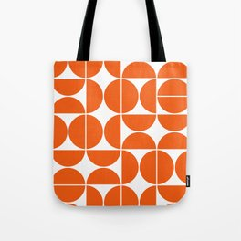 Mid Century Modern Geometric 04 Orange Tote Bag