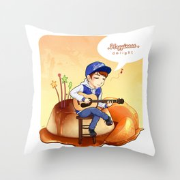 EXO Chanyeol on caramel pudding Throw Pillow