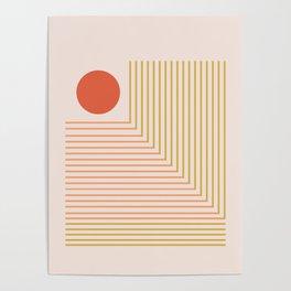 Lines & Circle 02 Poster