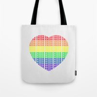 pride Tote Bags featuring Pride by Tony Vazquez