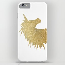 Gold Glitter Unicorn iPhone Case