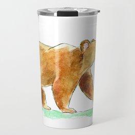 Bear & Bee Watercolor Travel Mug