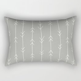 Grey, Fog: Arrows Pattern Rectangular Pillow