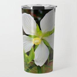 White Swamp Hibiscus Travel Mug