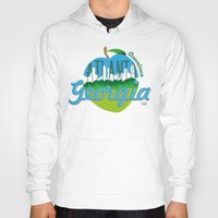 atlanta Hoodies featuring Downtown Atlanta Georgia by Niels Revers Design