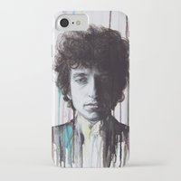 bob dylan iPhone & iPod Cases featuring Bob Dylan by Denise Esposito
