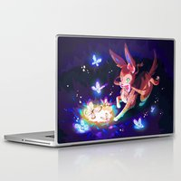 sylveon Laptop & iPad Skins featuring Sylveon by Katie O'Meara