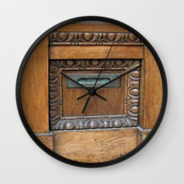 Letter Slot  Wall Clock