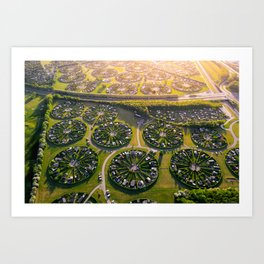 Colony Gardens in Copenhagen, Denmark Art Print
