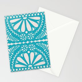 Fiesta de Flores Turquoise Stationery Cards