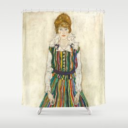 "Egon Schiele ""Portrait of Edith Schiele, the artist's wife"" (1915) Shower Curtain"