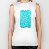turquoise Biker Tanks featuring turquoise by Antracit