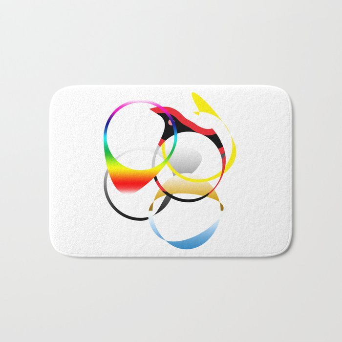 Colorful Joy  abstract geometrical art Bath Mat