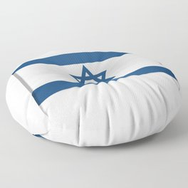 Flag of Israel. Vector illustration of a stylized flag. The slit in the paper with shadows Floor Pillow