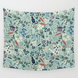 Herb Garden Wall Tapestry