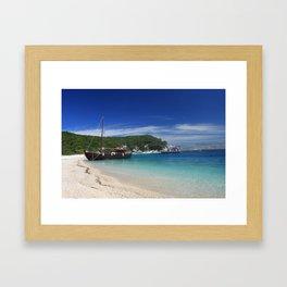 Ionian Sea Scape 2 Framed Art Print