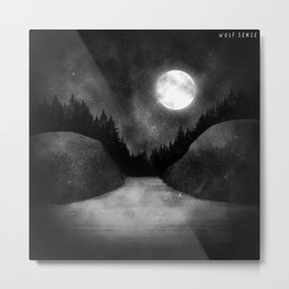 Landscape | Forest Moonlight Metal Print
