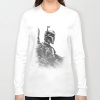 boba fett Long Sleeve T-shirts featuring Boba Fett by Richard Stuart MacFarlane