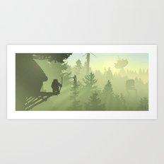 Planetscape #3: Forest Moon Art Print