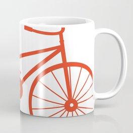 Red Bike by Friztin Coffee Mug