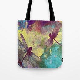 Painting Orchids and Dragonflies Tote Bag