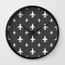 Gunmetal Jets Wall Clock