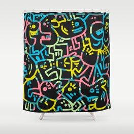 Happy Doodle Shower Curtain