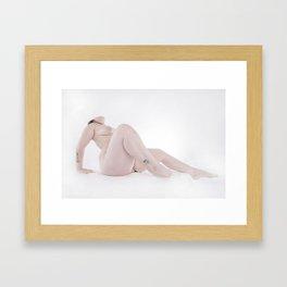 3367-SRC Big Bare Beautiful Girl on White Art Nude Woman Framed Art Print