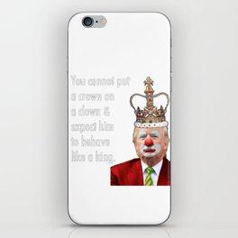 trump the clown iPhone Skin