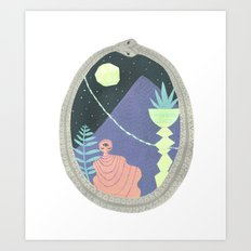 Ouroboros 1: Moon Mountain Art Print