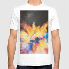 Lovebomb White MEDIUM Mens Fitted Tee