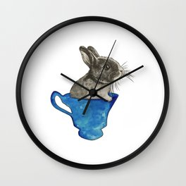 Follow The White Rabbit Wall Clock