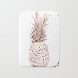 Pineapple Rose Gold Bath Mat