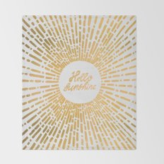 Hello Sunshine Gold Throw Blanket