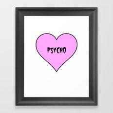 Psycho Framed Art Print
