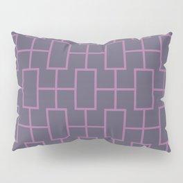 Squared purple pattern Pillow Sham
