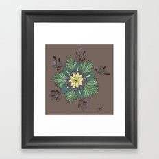 Sea Blossom Framed Art Print