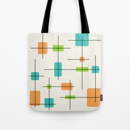 Rounded Rectangles And Squares Orange Turquoise Chartreuse Tote Bag