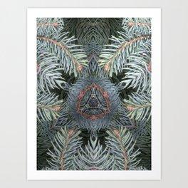 Ancient Yule Tree Art Print