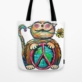 Peace Chubbycat Tote Bag