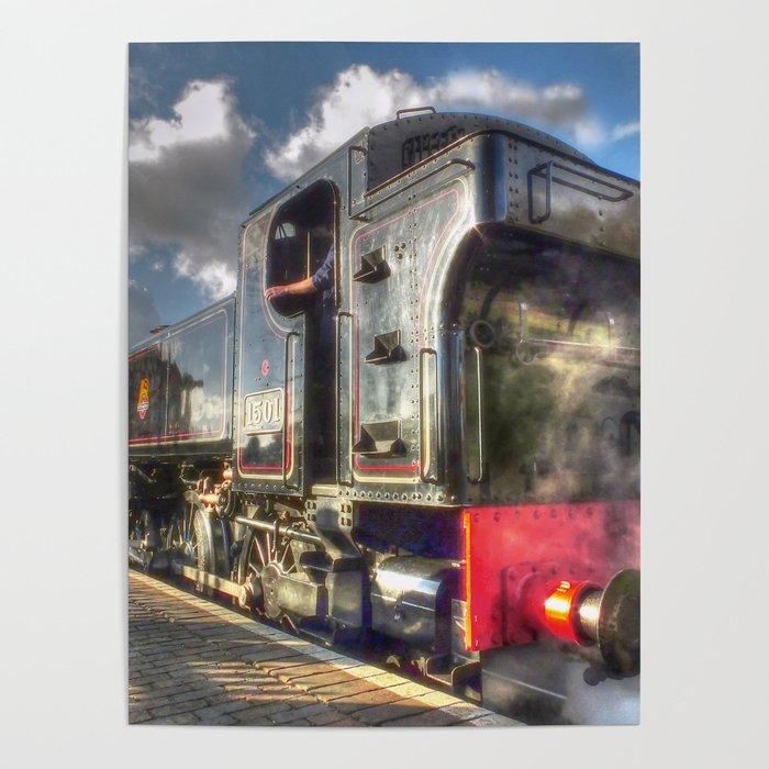 Steam Locomotive 1501 at Bewdley Poster