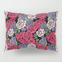 Chevron Floral Black Pillow Sham
