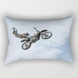 Motocross High Flying Jump Rectangular Pillow