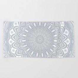 Cool Gray Mandala Simplistic Bold Minimal Minimalistic Beach Towel