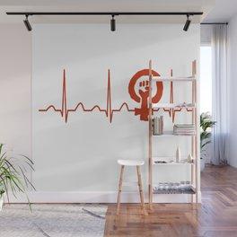 Sociologist Heartbeat Wall Mural
