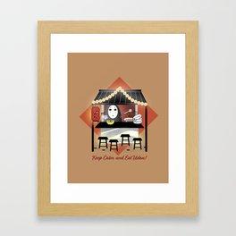 No Face Kaonashi Selling Udon Framed Art Print